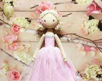 ballerina Doll,Dancing Girl Textile doll, decorative doll, doll cotton, rag doll