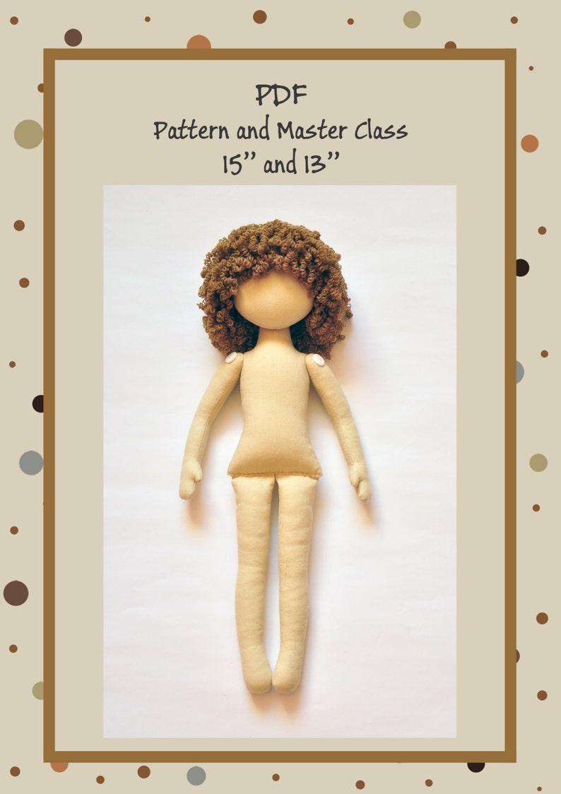 PDF Anna Doll Cloth Doll PatternPDF Sewing TutorialSoft image 0