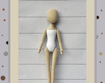 """PDF, Cloth Doll Pattern 15"""" and 17 """" l,Soft Doll Pattern"""