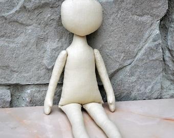 "Blank doll body-12""  blank rag doll body, the body of the doll made of cloth"