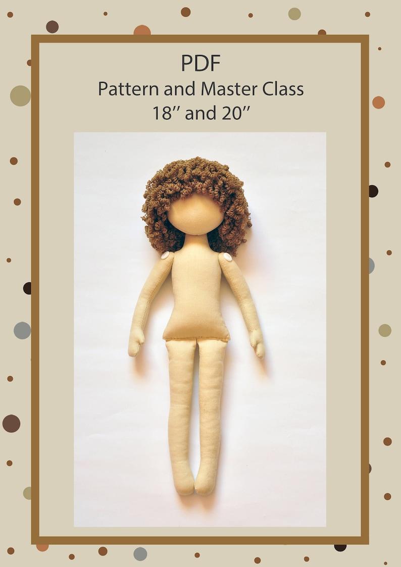 Doll 18-20 Cloth Doll Pattern PDF Sewing Tutorial Soft Doll Pattern PDF