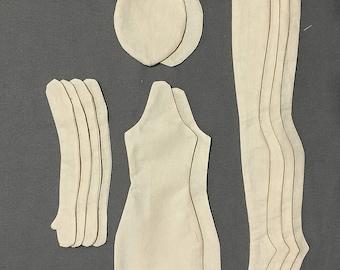 """2 Blank doll body-18"""" blank rag doll ragdoll body the body of the doll made of cloth"""