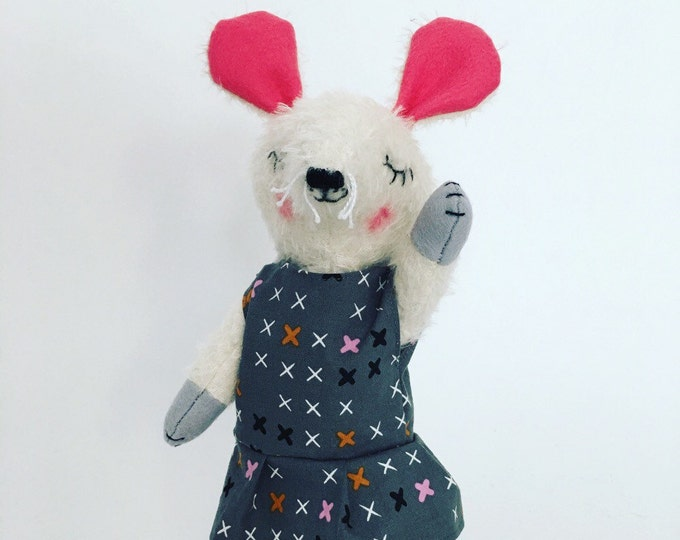 Mouse plush, stuffed rat, mohair mouse doll, Stuffed animal, handmade toy, handmade stuffed animal, waldorf inspired mouse, gifts for kids