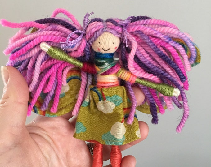 Pipe cleaner fairy doll, small gifts, Waldorf inspired, Waldorf season table, fairy pretend play, tiny fairy, magical world, bendy doll