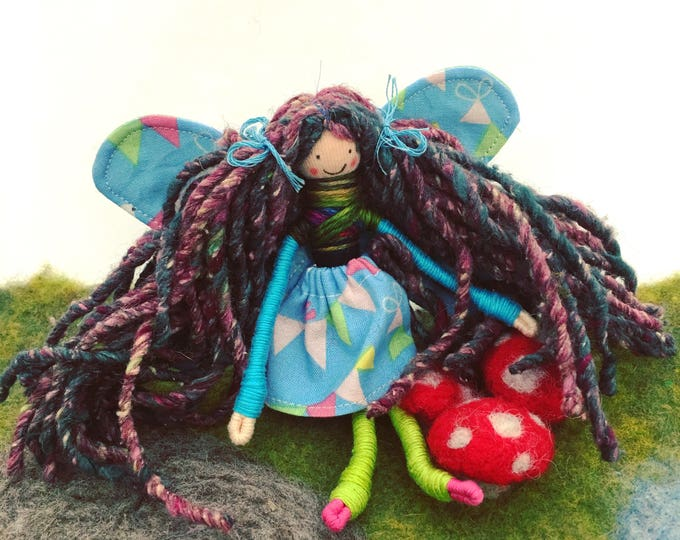 Fairy bendy doll, handmade toys, Valentine's Day gift, gifts for kids, play, Waldorf doll, magical world