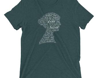 Jane Austen Cameo Word Cloud Art Short sleeve t-shirt