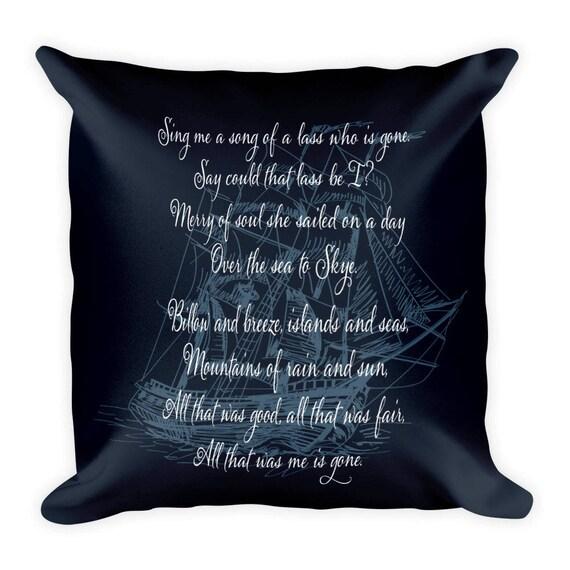 Skye Boat Song Outlander Square Pillow