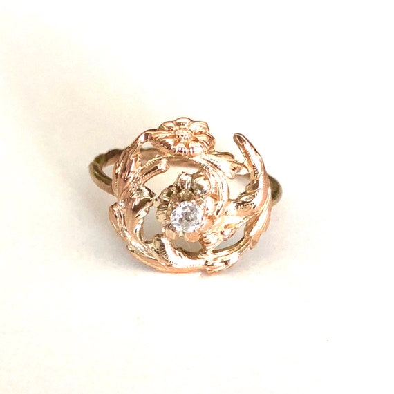 Victorian 14k Gold and Diamond Ring