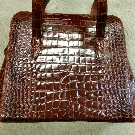 Vintage Revillon Alligator Bag