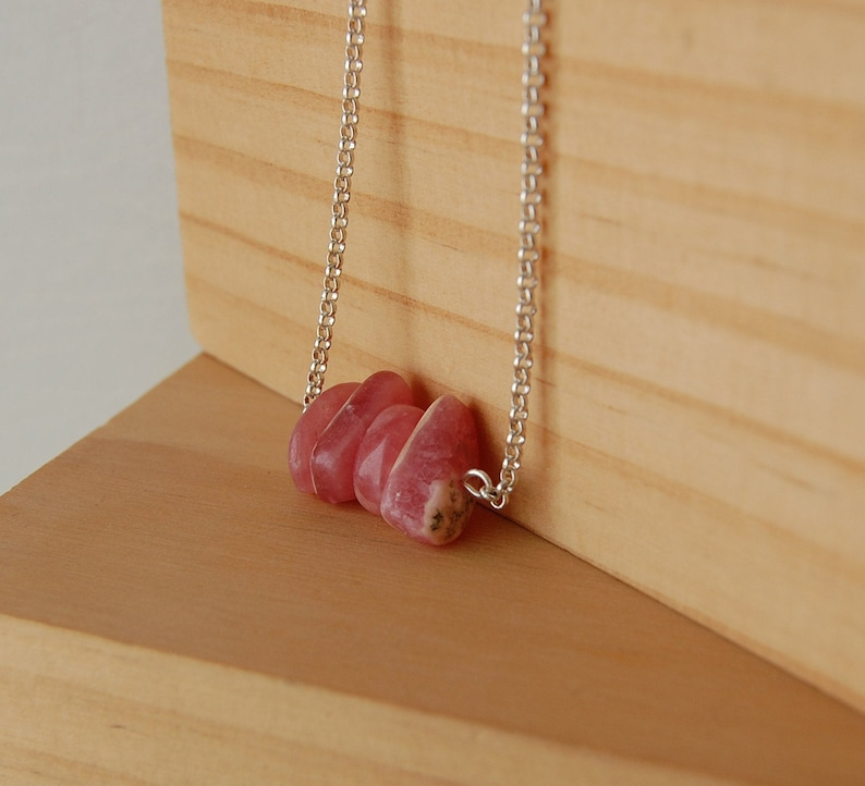 Gift Ideas For Her,Love Rhodochrosite Necklace Rhodocrosite Pendant Inca Rose,Dainty Stones of the Heart,Love Stones Rhodocrosite Stone