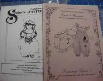 doll clothing patterns set 3