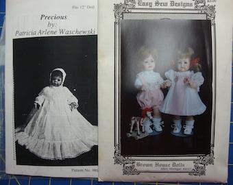 doll clothing patterns set 2