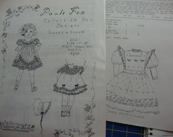 doll clothing patterns  set 7