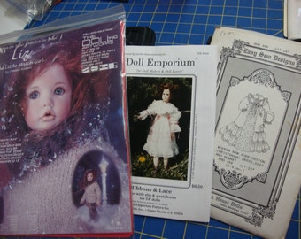 doll clothing patterns set 11