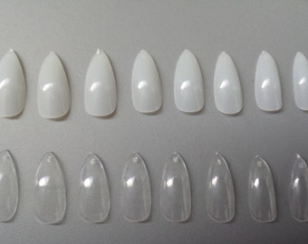 DIY Stiletto Nails - Press on Nails - Glue on Nails - Pointy Nails - Sharp Nails - Nail Claws - Vampire Nails - Do it yourself stiletto nail