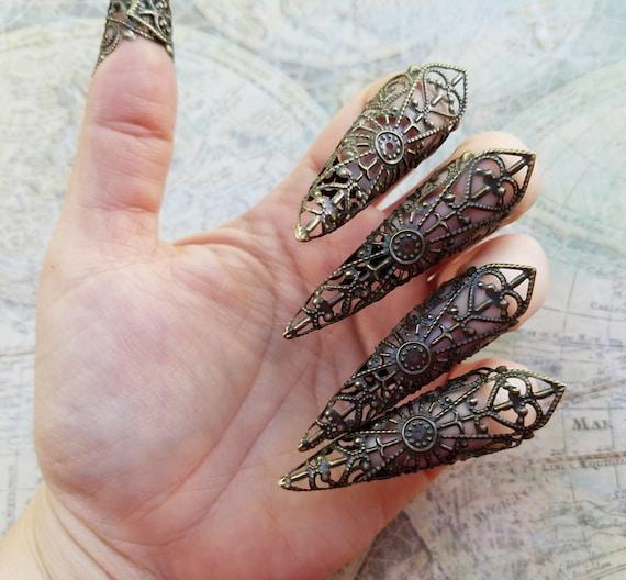 Gothique Halloween doigt garde bague griffe