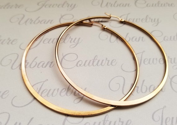 Hypoallergenic Earrings Extra Large Gold Rose Gold Or Silver Etsy
