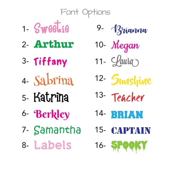 """Personalized 4"""" Name Sticker"""