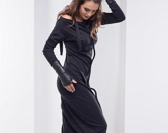 d01f7da5468 Gothic Dress Plus Size Maxi Dress Vampire Dress Black Maxi