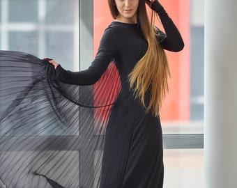Plus Size Cocktail Dress, Women Maxi Dress, Black Dress, Gothic Wedding Dress, Plus Size Maxi Dress, Maxi Dress, Trendy Plus Size Clothing