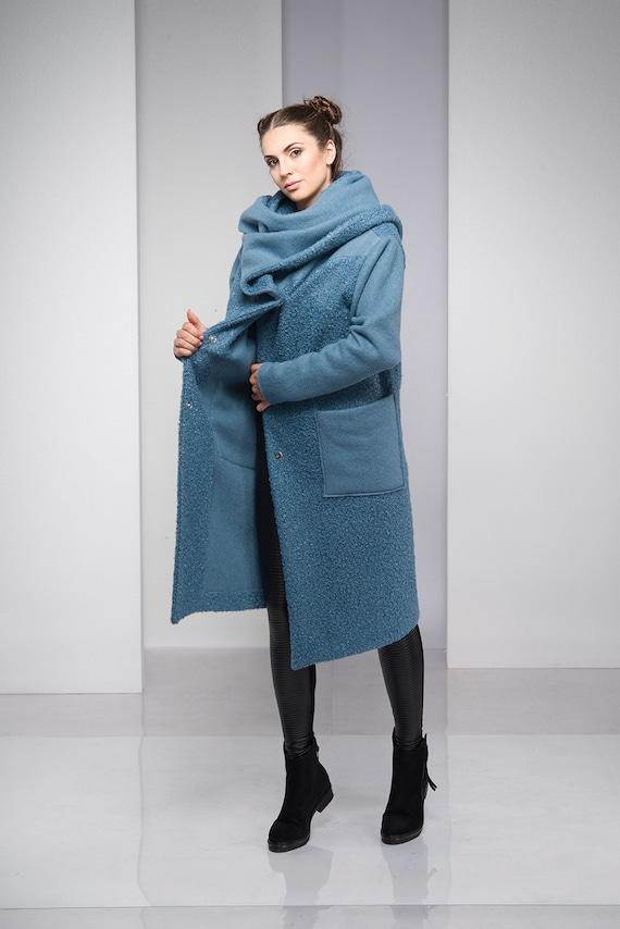 6fa270294ea Winter Coat Blue Coat Coat For Women Hooded Coat Plus Size