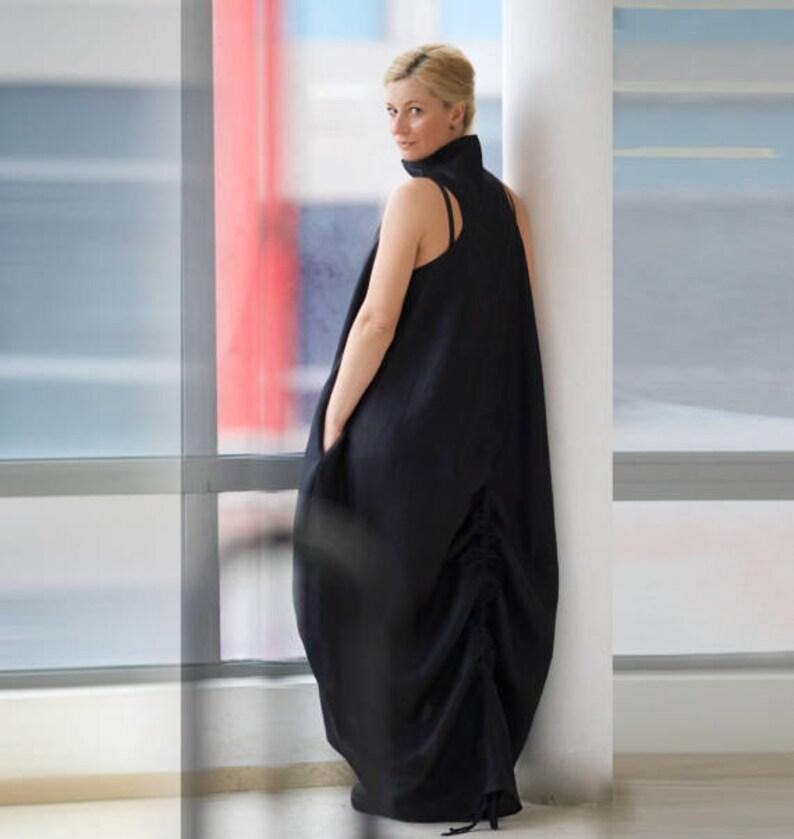 1800e3dae Linen Dress, Trendy Plus Size Clothing, Gothic Dress, Plus Size Maxi Dress,  Womens Linen Tunic Dress, Black Caftan Dress, Maxi Linen Dress