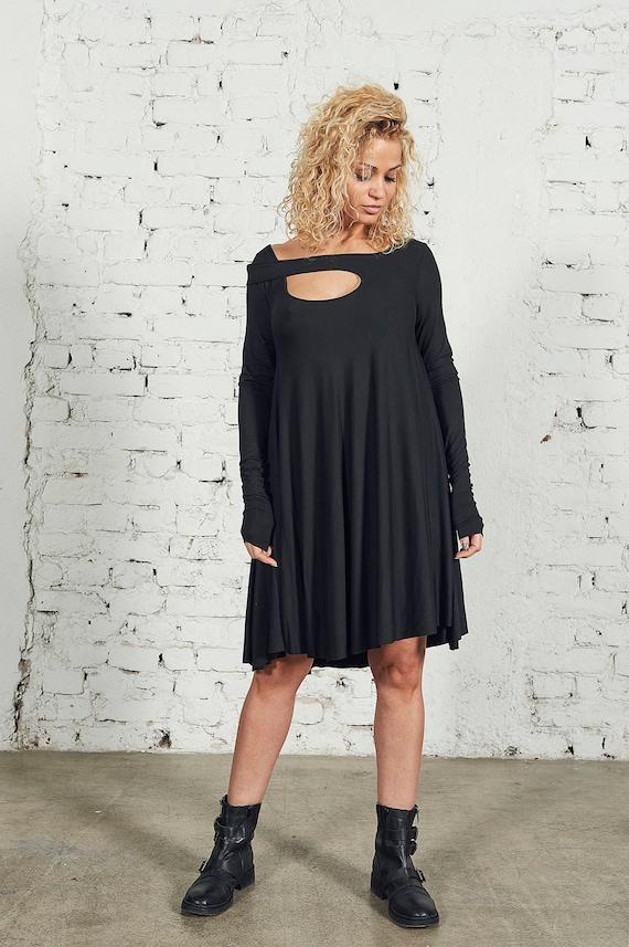 Plus Size Dress Short Dress Black Dress Women Black Dress Etsy