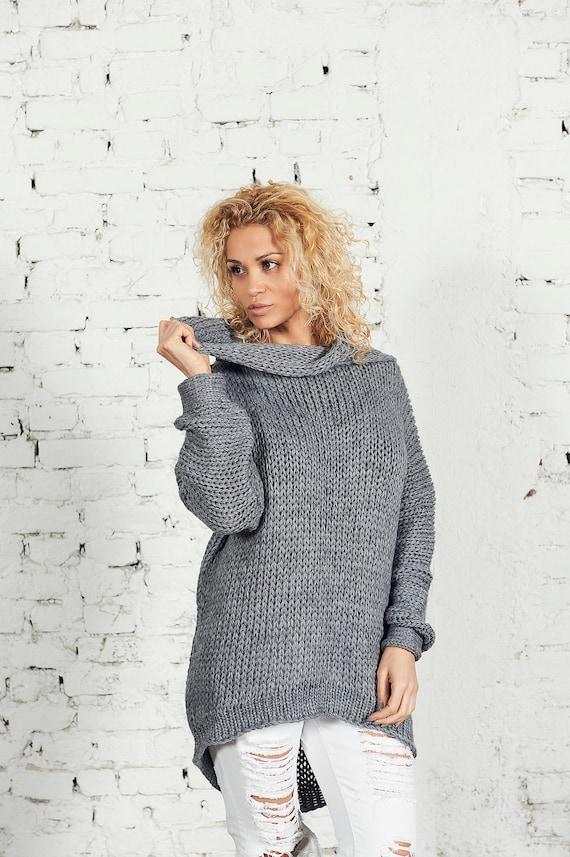 Maglione oversize maglione di lana abbigliamento Steampunk  3707b6e7b8f