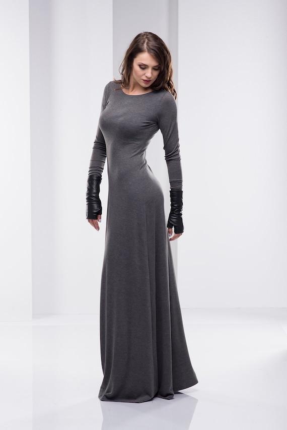 Women Maxi Dress, Long Sleeve Maxi Dress, Plus Size Maxi Dress, Long Cotton  Dress, Evening Dress, Oversize Clothing, Bohemian Women Clothing