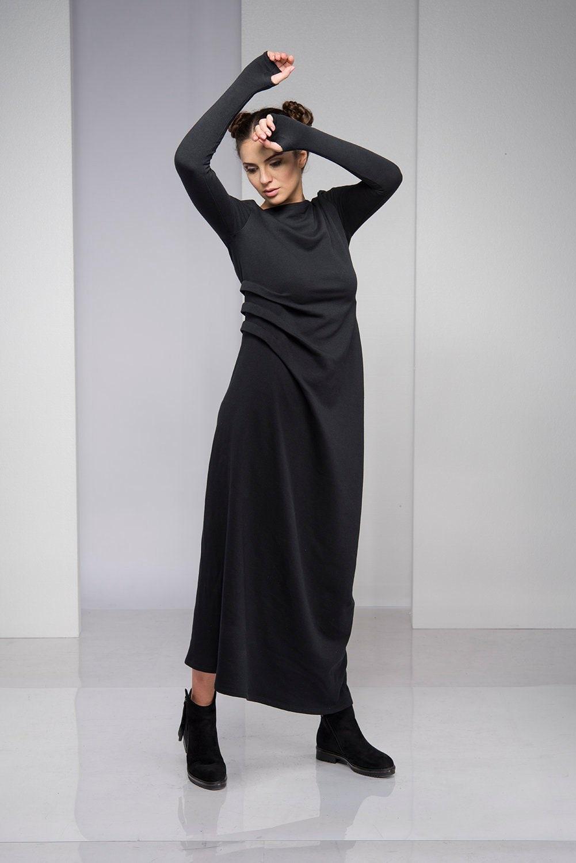 Plus Size Maxi Dress, Gothic Dress, Plus Size Dress, Black Maxi Dress,  Women Black Dress, Maxi Dress, Steampunk Dress, Plus Size Clothing