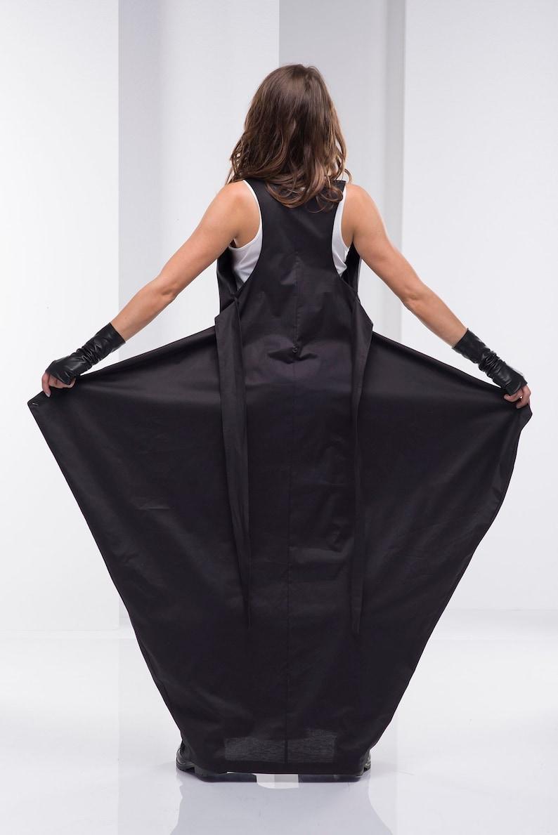 41acb27ec56 Maxi Dress Black Dress Plus Size Dress Gothic Dress Cotton
