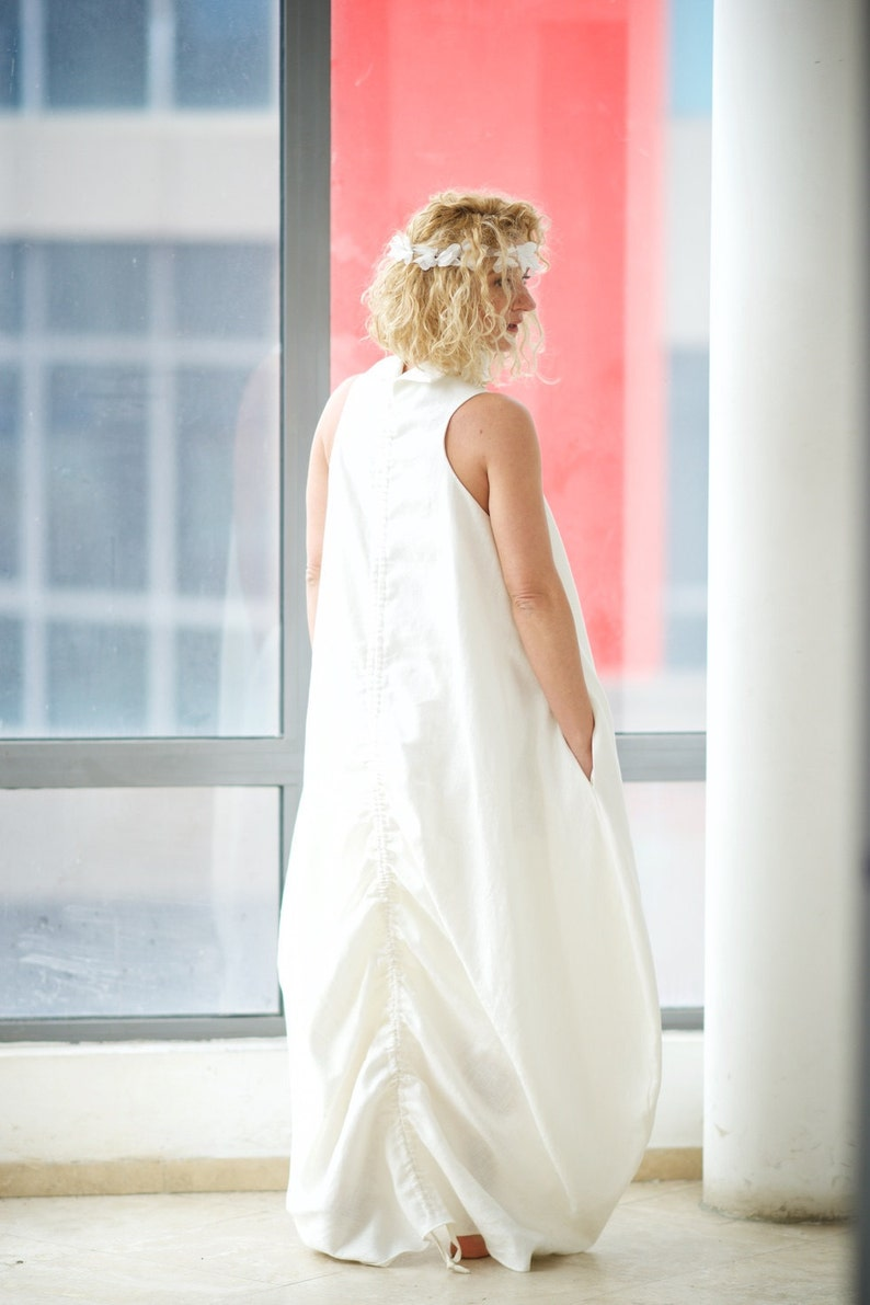 b21151a7e3 Linen Clothing White Linen Dress Plus Size Clothing Linen