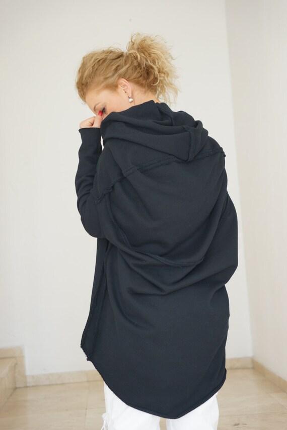490e4d51f6e Plus Size Sweatshirt Gothic Clothing Black Hooded Tunic | Etsy