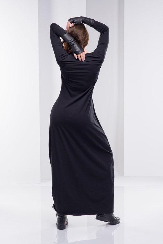 Women Black Dress, Long Dress, Plus Size Gothic, Plus Size Dress, Gothic  Dress, Maxi Dress, Steampunk Dress, Oversize Dress, Women Clothing