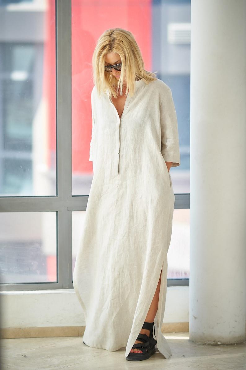 8c94d71544 Linen Dress Linen Kaftan Linen Maxi Dress Linen Clothes
