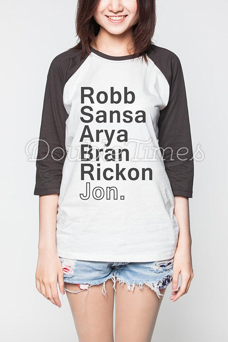 cc056a7218 Game of Thrones Shirt Baseball House Stark T-Shirt Women Tee | Etsy