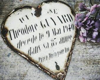 RAR: Old commemorative Heart/Gedenktafel France