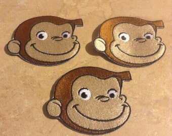 ONE Cute Monkey Patch/ Cute Monkey Appliqué / Curious Monkey Patch