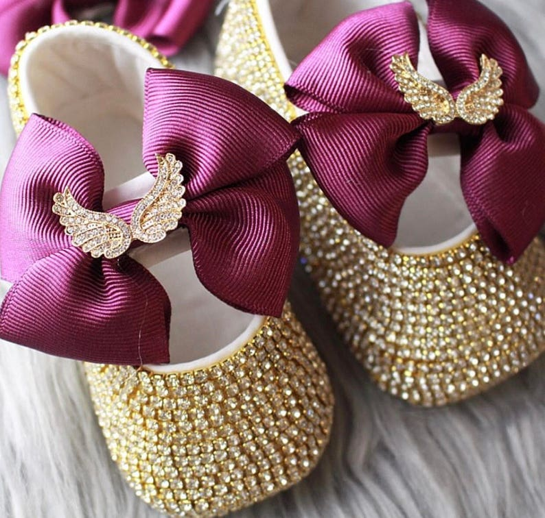 Handmade Swarovski Crystals Purple bling Baby Girls Shoes  11abdbc3d