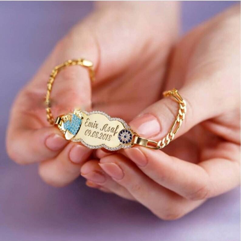 5b90eb38653 Baby armband gegraveerd gepersonaliseerde armband voor meisje image 0 ...