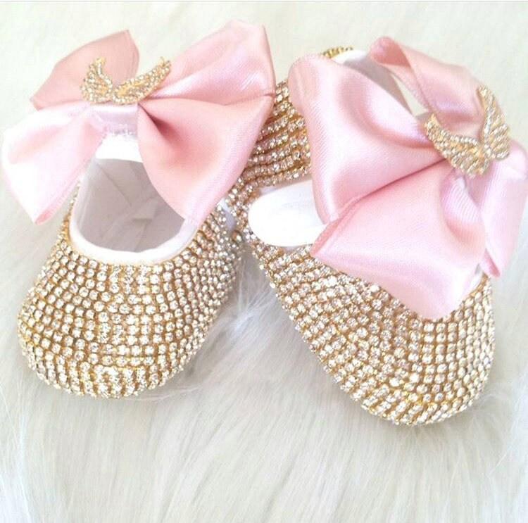 des cristaux de swarovski de nouveau - né chaussures / don luxe bébé / baptême chaussures / bébé don / / cadeaux pour bébé c41571