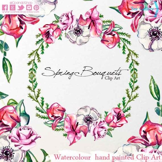 Ramo de flores bugambilias flores rosas primavera 2 clip   Etsy