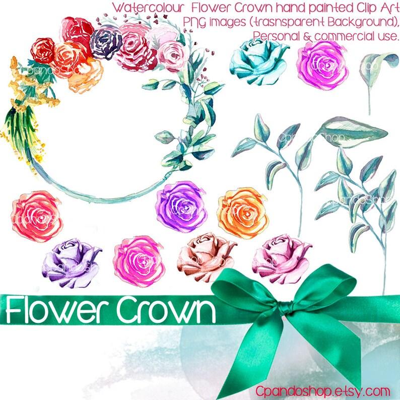 Corona De Flores 14 Imagenes Png Con Fondo Transparente Etsy