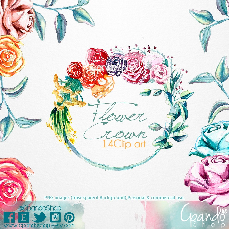 Flower crown 14 png images with transparent background 300 etsy zoom izmirmasajfo