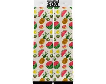 Calcetines de diseño personalizado de fruta