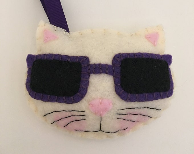 Felt ShadedCat Ornament