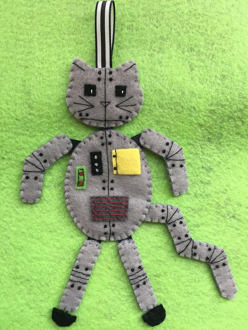 Felt RobotCat Ornament