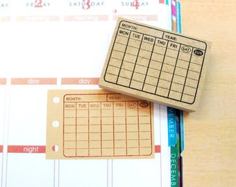 Calendar - Rubber Stamps