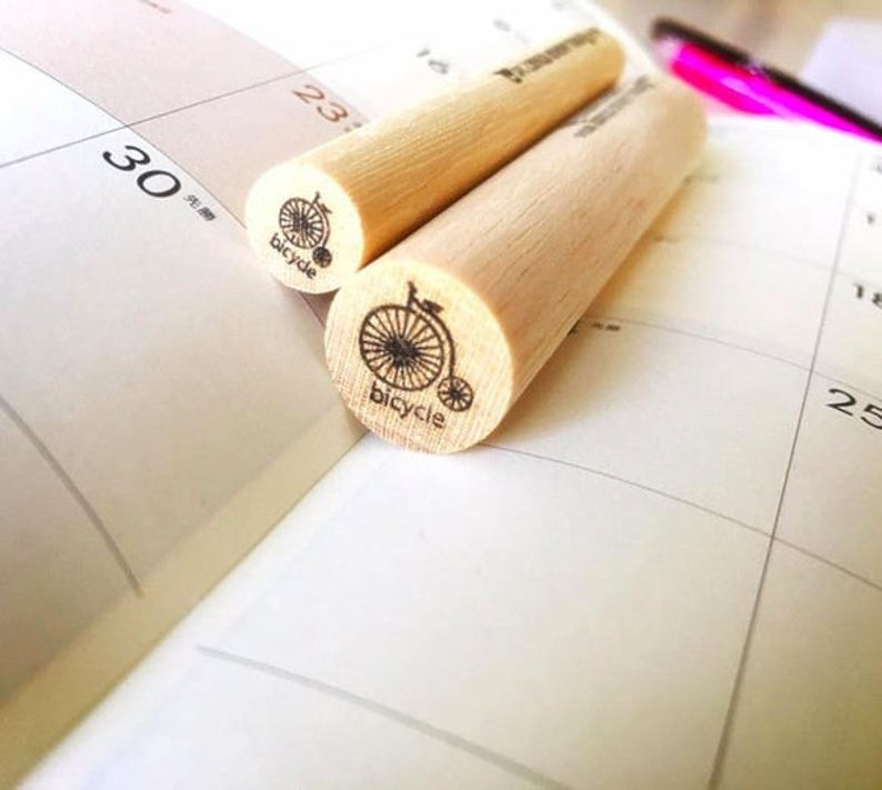 Planner stamps,bicycle stamp planner stamp,Hobonichi,erin condren,filofax,kikki k,travelers notebook,stamps,Bicycle