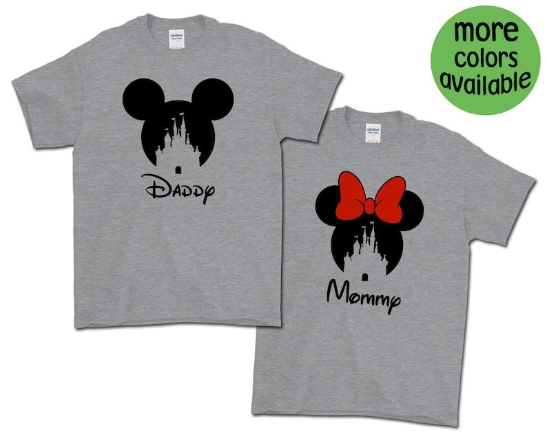 f536a9c6 Mickey Minnie Castle Custom Text T-Shirts / Disney Group Tees   Etsy
